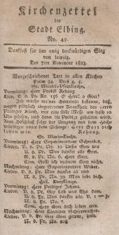 Kirchenzettel der Stadt Elbing, Nr. 49, 7 November 1813