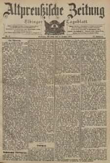 Altpreussische Zeitung, Nr. 11 Mittwoch 14 Januar 1903, 55. Jahrgang