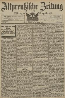 Altpreussische Zeitung, Nr. 22 Dienstag 27 Januar 1903, 55. Jahrgang