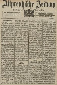 Altpreussische Zeitung, Nr. 34 Dienstag 10 Februar 1903, 55. Jahrgang