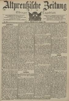 Altpreussische Zeitung, Nr. 35 Mittwoch 11 Februar 1903, 55. Jahrgang