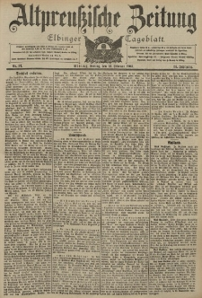 Altpreussische Zeitung, Nr. 37 Freitag 13 Februar 1903, 55. Jahrgang