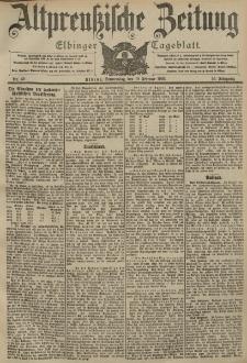 Altpreussische Zeitung, Nr. 42 Donnerstag 19 Februar 1903, 55. Jahrgang