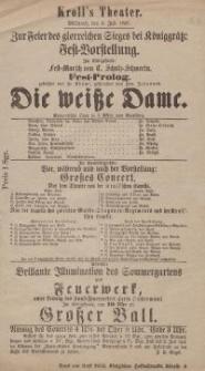 """Pozycja nr 53 z kolekcji Henryka Nitschmanna : """"Die weisse Dame"""""""