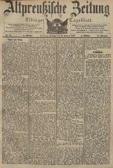 Altpreussische Zeitung, Nr. 45 Sonntag 22 Februar 1903, 55. Jahrgang