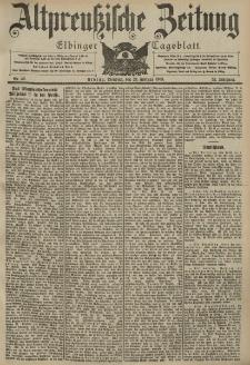Altpreussische Zeitung, Nr. 46 Dienstag 24 Februar 1903, 55. Jahrgang