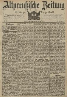 Altpreussische Zeitung, Nr. 47 Mittwoch 25 Februar 1903, 55. Jahrgang