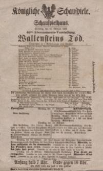 """Pozycja nr 62 z kolekcji Henryka Nitschmanna : """"Wallensteins Tod"""""""