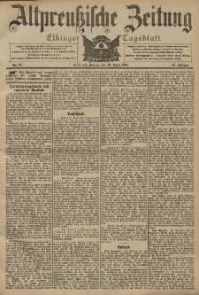 Altpreussische Zeitung, Nr. 85 Freitag 10 April 1903, 55. Jahrgang