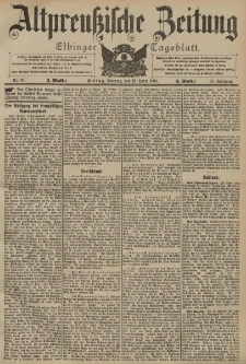 Altpreussische Zeitung, Nr. 86 Sonntag 12 April 1903, 55. Jahrgang