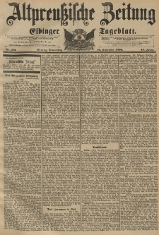 Altpreussische Zeitung, Nr. 213 Donnerstag 10 September 1896, 48. Jahrgang