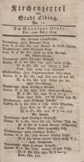 Kirchenzettel der Stadt Elbing, Nr. 11, 13 März 1814