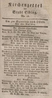 Kirchenzettel der Stadt Elbing, Nr. 19, 1 Mai 1814