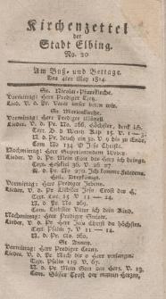 Kirchenzettel der Stadt Elbing, Nr. 20, 4 Mai 1814
