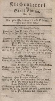 Kirchenzettel der Stadt Elbing, Nr. 21, 8 Mai 1814