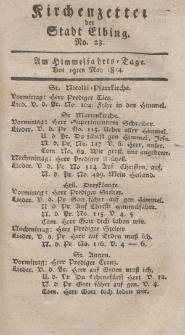 Kirchenzettel der Stadt Elbing, Nr. 23, 19 Mai 1814