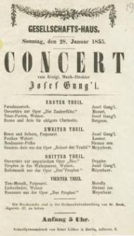 Pozycja nr 19 z kolekcji Henryka Nitschmanna : Concert (Josef Gung'l)