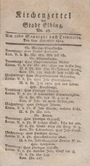 Kirchenzettel der Stadt Elbing, Nr. 49, 6 November 1814