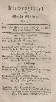 Kirchenzettel der Stadt Elbing, Nr. 50, 13 November 1814