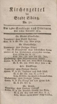 Kirchenzettel der Stadt Elbing, Nr. 51, 20 November 1814
