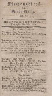 Kirchenzettel der Stadt Elbing, Nr. 52, 27 November 1814