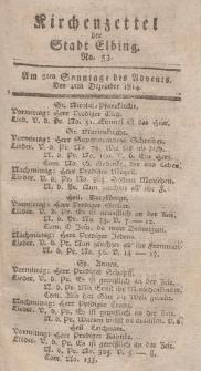 Kirchenzettel der Stadt Elbing, Nr. 53, 4 Dezember 1814