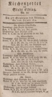 Kirchenzettel der Stadt Elbing, Nr. 54, 11 Dezember 1814