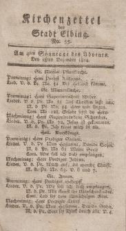 Kirchenzettel der Stadt Elbing, Nr. 55, 18 Dezember 1814