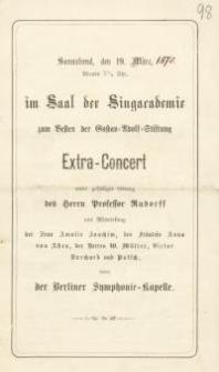 Pozycja nr 98 z kolekcji Henryka Nitschmanna : Extra - Concert