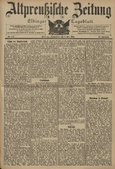 Altpreussische Zeitung, Nr. 108 Sonnabend 9 Mai 1903, 55. Jahrgang