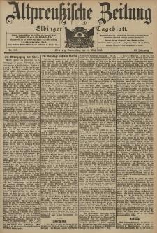 Altpreussische Zeitung, Nr. 112 Donnerstag 14 Mai 1903, 55. Jahrgang