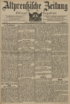 Altpreussische Zeitung, Nr. 114 Sonnabend 16 Mai 1903, 55. Jahrgang