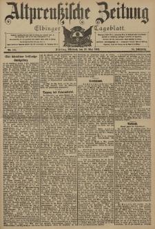 Altpreussische Zeitung, Nr. 117 Mittwoch 20 Mai 1903, 55. Jahrgang
