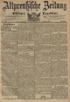 Altpreussische Zeitung, Nr. 231 Donnerstag 1 Oktober 1896, 48. Jahrgang