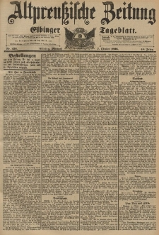 Altpreussische Zeitung, Nr. 236 Mittwoch 7 Oktober 1896, 48. Jahrgang