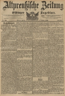 Altpreussische Zeitung, Nr. 238 Freitag 9 Oktober 1896, 48. Jahrgang