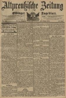Altpreussische Zeitung, Nr. 254 Mittwoch 28 Oktober 1896, 48. Jahrgang