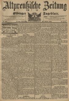 Altpreussische Zeitung, Nr. 255 Donnerstag 29 Oktober 1896, 48. Jahrgang