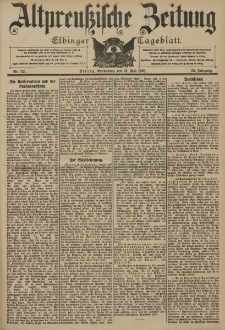 Altpreussische Zeitung, Nr. 125 Sonnabend 30 Mai 1903, 55. Jahrgang