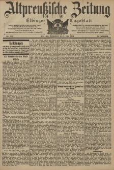 Altpreussische Zeitung, Nr. 130 Sonnabend 6 Juni 1903, 55. Jahrgang