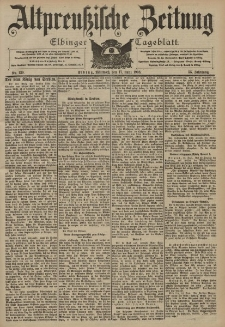 Altpreussische Zeitung, Nr. 139 Mittwoch 17 Juni 1903, 55. Jahrgang