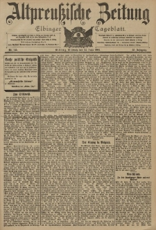 Altpreussische Zeitung, Nr. 145 Mittwoch 24 Juni 1903, 55. Jahrgang