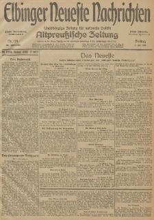 Elbinger Neueste Nachrichten, Nr. 179 Freitag 3 Juli 1914 66. Jahrgang