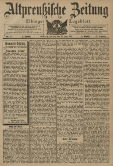 Altpreussische Zeitung, Nr. 149 Sonntag 28 Juni 1903, 55. Jahrgang