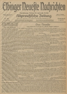 Elbinger Neueste Nachrichten, Nr. 180 Sonnabend 4 Juli 1914 66. Jahrgang
