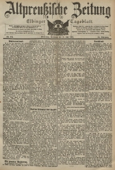Altpreussische Zeitung, Nr. 163 Mittwoch 15 Juli 1903, 55. Jahrgang