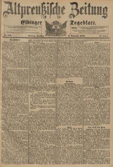 Altpreussische Zeitung, Nr. 259 Dienstag 3 November 1896, 48. Jahrgang