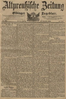 Altpreussische Zeitung, Nr. 268 Freitag 13 November 1896, 48. Jahrgang