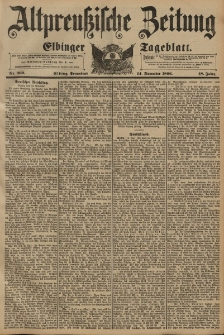 Altpreussische Zeitung, Nr. 269 Sonnabend 14 November 1896, 48. Jahrgang