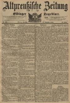 Altpreussische Zeitung, Nr. 271 Dienstag 17 November 1896, 48. Jahrgang